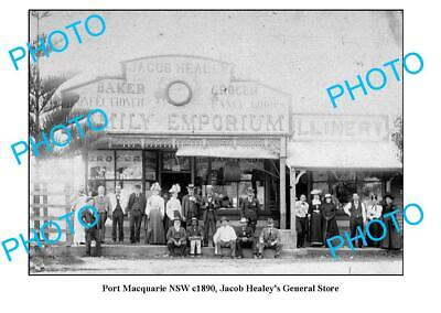 OLD 6 x 4 PHOTO PORT MACQUARIE NSW HEALEYS GENERAL STORE (Macquarie Stores)