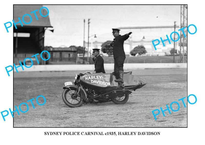 OLD 8x6 PHOTO OF SYDNEY POLICE CARNIVAL HARLEY DAVIDSON MOTORCYCLE c1935 4