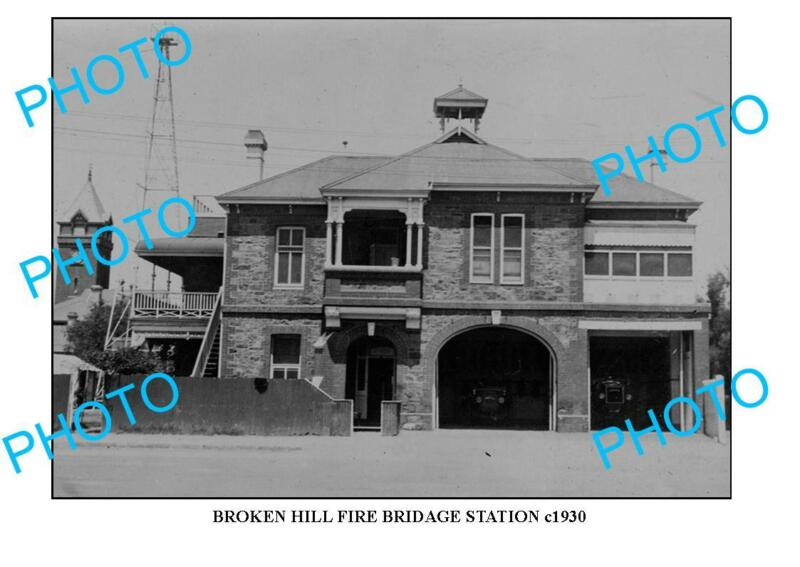 8x6 PHOTO OF OLD BROKEN HILL FIRE BRIGADE STATION