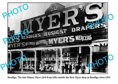 OLD 8x6 PHOTO 1st MYER DEPARTMENT STORE BENDIGO VICTORIA (Myer Stores Victoria)