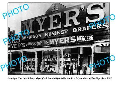 OLD LARGE PHOTO 1st MYER DEPARTMENT STORE BENDIGO VICTORIA (Myer Stores Victoria)