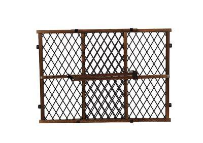 Dark Dog Gate Baby Wooden Locking Bar Stairs Adjustable Safety Child Pet Fence