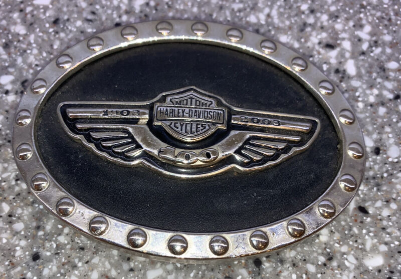 Harley Davidson 100th anniversary belt buckle