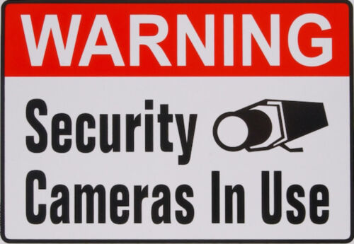 """REFLECTING Warning Security Camera In Use 10""""x14"""" Aluminum Metal Outdoors Sign"""