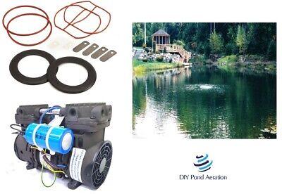 New Lake Fish Pond Aeration Aerator Pump Compressor 70psi 3 Cfm W Rebuild Kit