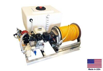 Sprayer Commercial - Skid Mounted - 9.5 Gpm - 580 Psi - 100 Gallon Fiberglass