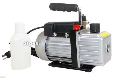 Single Stage 3CFM 1/4HP Rotary Vane  HVAC Vacuum Pump Air AC A/C R410a R134a