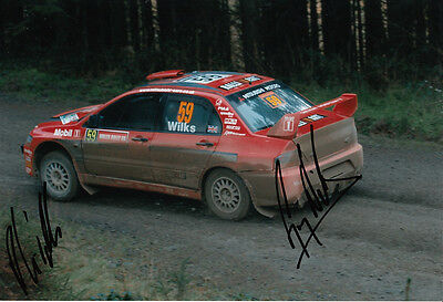 Guy Wilks and Phil Pugh Hand Signed Mitsubishi Photo 12x8 2.