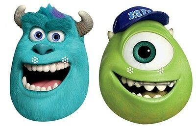 Official SULLEY and MIKE Monsters University Inc card Party Face Masks Mask - Mike And Sulley