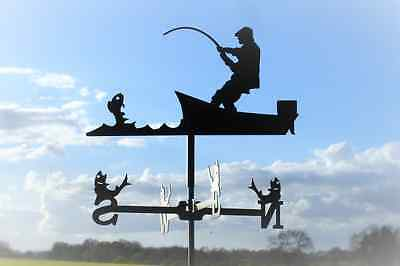 Standard Fisherman Metal Weathervane (Post Fixing Bracket)