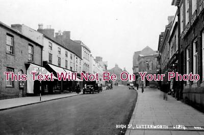 LC 219 - High Street, Lutterworth, Leicestershire - 6x4 Photo