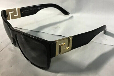 VERSACE Sunglasses Square VE 4296 GB1/87 59mm Black-Gold / Grey Lens *MINOR (Versace Ve4296)