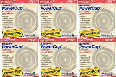 48 Pc  Presto 09964 Powercup Microwave Popcorn Concentrators 6 Packs Of 8