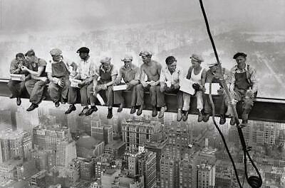 Eating Above Manhattan - New York Poster 91,5 x 61 cm Plakat Wanddeko Dekoration