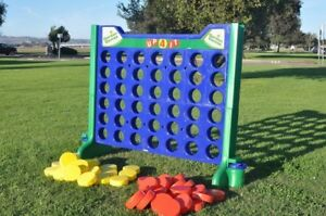 Giant connect four,  giant jenga and giant checkers game Rental
