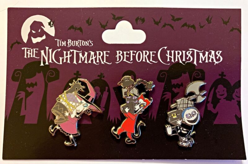 Disney Parks 3 pin set NBC Nightmare Before Christmas 3 kids pack - NEW