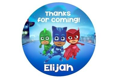 PJ Masks Birthday Stickers / labels AND/OR party favor Thank You tags! ](Party Favor Tags)