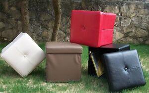 Pouff pouf storage contenitore vari colori cm 38x38x41h for Puff arredo
