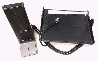Motorola Maxtrac Radius Desktop Hln5292b Base Tray With Hmn3000b Microphone Mic