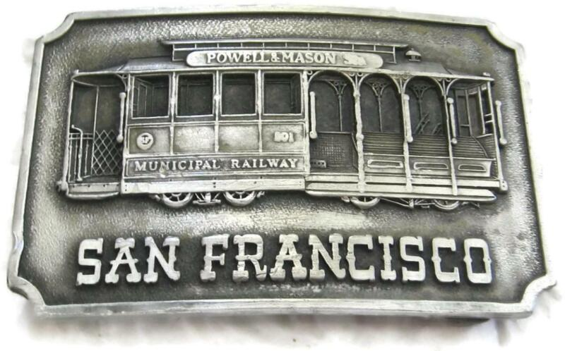 1975 Kinney San Fransisco Cable Car Belt Buckle - Powell & Mason