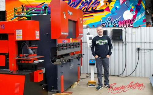 CNC Press Brake - 69Ton 5ft with Cybelic Touch Screen Programmable Backstop