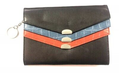 Vintage Samsonite 3-Compartment TriColor Bonded Leather Wallet Clutch Purse, NOS