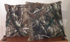 Realtree/Mossy Oak Camo Throw Pillow Set Of 2 *New Handmade*