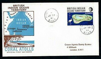 British Indian Ocean Territory - 1969 Coral Atolls First Day Cover