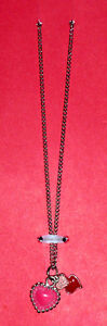 Pink Heart Charms Necklace on silver chain Cambridge Kitchener Area image 2
