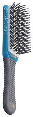 Kent Small CANDY Hairbrush BLUE Cushion Nylon Ball Tipped 5 Row BRUSH