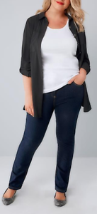Indigo Pull On Straight Leg Jeans - Size 20 and 22 Paddington Eastern Suburbs Preview
