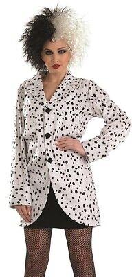 Damen Dalmatiner Bösewicht Halloween Kostüm Kleid Outfit 8-22 Übergröße