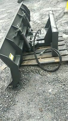 New Hd 84 7 Snowplow Skid Steer Loaderbobcat Case Cat.snow Plow Pusher 7ft