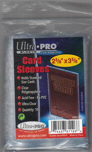 Pack-of-100-Ultra-Pro-Soft-Card-Sleeves-Protect-Hockey-Baseball-Cards-Brand-New