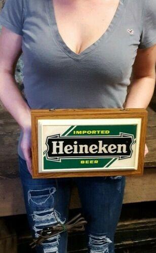 Vintage Heineken Beer Sign wall sign bar working lighted Advertising Beer Sign