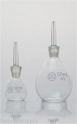 Lab Glass Specific Gravity Bottle Determination Pycnometer 25ml New
