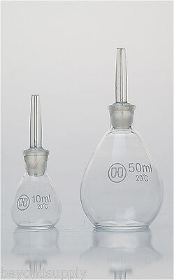 Lab Glass Specific Gravity Bottle Determination Pycnometer 100ml New