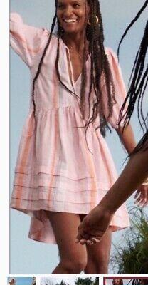 XS NWT lemlem x hm pink linen dress