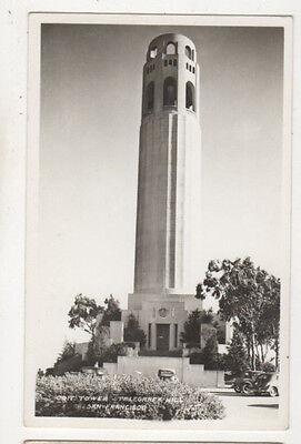 Tower Telegraph Hill (Coit Tower Telegraph Hill San Francisco USA Vintage RPPC Postcard US060)