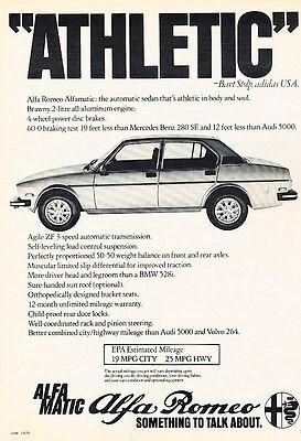 1979 Alfa Romeo Alfetta Sport Sedan - Classic Vintage Advertisement Ad D19