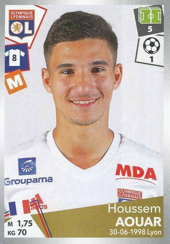 191 aouar houssem # rookie # sticker panini foot 2018 #1