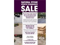 Natural Stone Paving Products Clearance Walk-Through Sale