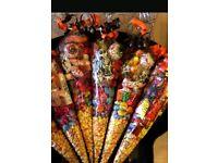 Halloween sweetie cones and kebabs