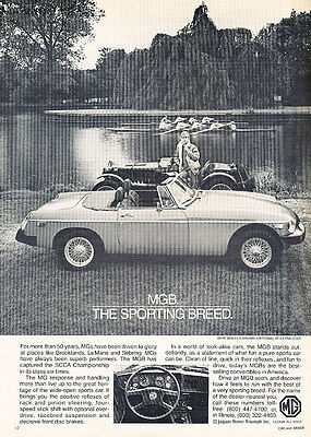 1980 MG MGB - Lake - Classic Vintage Advertisement Ad D29
