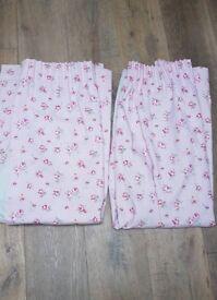 *Pretty* Pink Rosebud Handmade Pencil Plead Curtains