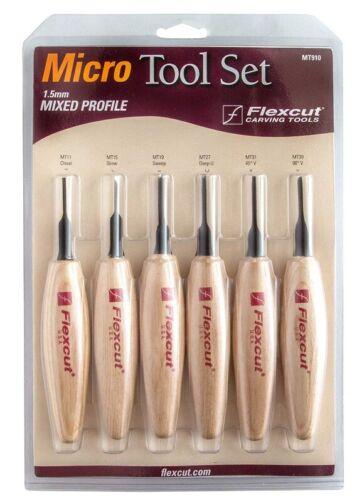 FlexCut® MT910 1.5mm Mixed Profile Micro Carving Tool Set