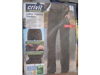 "Size 10 (28-30"") Crivit (Black) Hiking/Trekking Trousers"