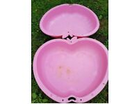 Argos pink apple sand pit paddling pool