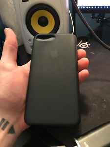 iPhone 7 Plus (7+) Silicone Case - Black