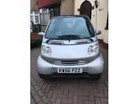 SMART CAR PASSION, SILVER, 2007, LOW MILEAGE, CHEAP TO RUN, PANORAMIC GLASS ROOF